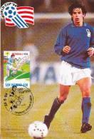 D11880 CARTE MAXIMUM CARD 1994 SAN MARINO -  ITALY SOCCER PLAYER CP ORIGINAL - Famous Clubs