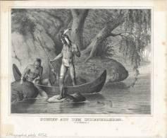 Life Of The Indian, Scenen Aus Dem Indianenleben, Fishing - Lithografieën