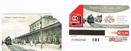TELECOM ITALIA - C. & C. F4344 -  2007 PESCARA COLLEZIONA: STAZIONE FERROVIARIA      -  USATA - Public Special Or Commemorative