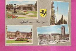 STUTTGART   -   ** 4 ANSICHTEN **   -   Verlag : BAUER   N° S 9543 - Stuttgart