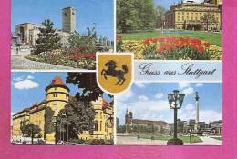 STUTTGART   -   ** 4 ANSICHTEN **mit WAPPEN   -   Foto : RELLISCH   -   Verlag : AWEKA Aus Stuttgart   N° 154 - Stuttgart