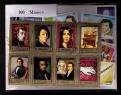 100 SELLOS DE MUSICA - MUSIQUE - MUSIC - (TODOS DIFERENTES) (ALL DIFFERENT) - Sellos