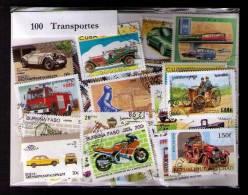 100 SELLOS DE TRANSPORTES - TRANSPORTS - (TODOS DIFERENTES) (ALL DIFFERENT) - Sellos