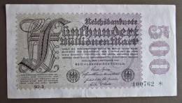 Banknote Papermoney Deutsches Reich 500 Millionen Mark 1923  Bill Germany Billet Allemagne - [ 3] 1918-1933 : Weimar Republic