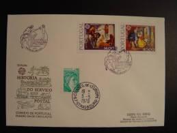 PORTUGAL FUNCHAL LIAISON POSTALE FDC CONSEIL EUROPE EUROPA PARLAMENT TIRAGE LIMITE 25 Ex. !!!! - 1910-... République