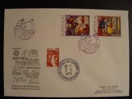 PORTUGAL DELGADA LIAISON POSTALE FDC CONSEIL EUROPE EUROPA PARLAMENT TIRAGE LIMITE 25 Ex. !!!! - 1910-... République