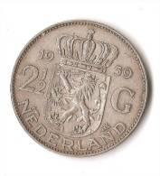 PAYS - BAS  2 1/2 GULDEN 1959  ARGENT  QUALITE ! - [ 8] Monnaies D'or Et D'argent