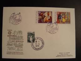 PORTUGAL COIMBRA LIAISON POSTALE FDC CONSEIL EUROPE EUROPA PARLAMENT TIRAGE LIMITE 25 Ex. !!!! - 1910-... République