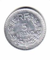 FRANCE     5  FRANCS  1949 B  (KM # 888b.2) - Francia