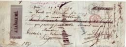 Mandat De 1850 - PARIS - J. LANGLUME - Imprimerie-Lithographie-Librairie - Letras De Cambio