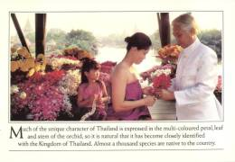 (555) Thai Airways Postcard - Thailand Orchids - Aviazione