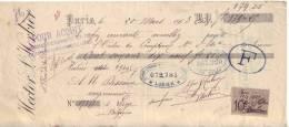Mandat De 1903 - PARIS 18 Rue De La Douane - Hector L´HERBIER - Entrepreneur De Transports Internationaux Et Maritimes - Lettres De Change