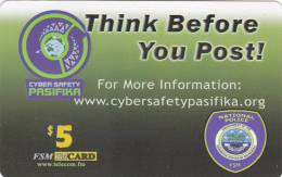 Micronesia, FSM-R-063, Think Before You Post!, 2 Scans. - Micronesia