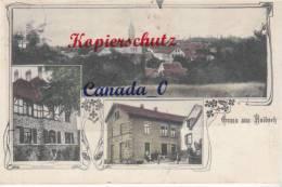P  4 --   Haibach  Gruß Aus..., Totale, Neues OPfarrhaus, Gsths Z.Krone V.Ed Hock, 3.8.1912 - Other