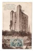 Timbres ORPHELINS DE LA GUERRE 1917-18 , 2.5 Ct. SUR 5 Ct. + 5 Ct. Vert ( 1922 ) / Cpa SAINT-EMILION  ( Beau DAGUIN ) - Marcophilie (Lettres)
