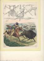 Buffalo Hunt, Bisonjagd - Lithografieën