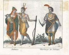 Irokesen, Oberhaupt Der Irokesen, Meissen, Goedsche - Lithografieën