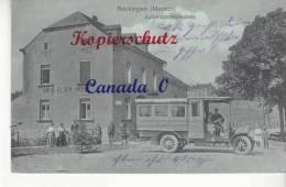 P   4 -- Reckingen  Automobil-Haltestelle - Bus-stop Cafe Elsen Krier, 20.8.1914 - Other