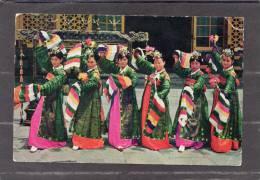 37038       Corea  Del  Sud,  Court Attendants Performing A Traditional Dance In  The  Republic Of  Korea, NV(scritta) - Corea Del Sud