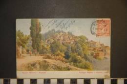 CP, Grece, Village Péléka Corfou 1914 - Grèce