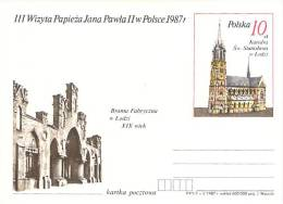 POLOGNE  RELIGION CATHOLIQU VOYAGE  PAPE  JEAN PAUL II   Pope John Paul II Papst Johannes Paul II  PAPA Jonas Paulius II - Stamped Stationery