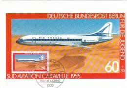 GERMANIA CARTOLINA MAXIMUM 1980  PRO GIOVENTU' STORIA AERONAUTICA TERZA SERIE - [5] Berlijn