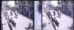 Plaque Stereo Andenne Cortege Sainte Begge Procession - Plaques De Verre