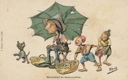 Herzig Illustrateur Comique Marchand De Cacaouettes Arachide Enfants Voleurs Edit J. Bringau - Algérie