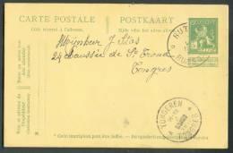E.P. Carte 5 Centimes Pellens Obl. Sc Relais De RUTTEN RUSSON * Du 7-V-1919 Vers Tongres.  Superbe Frappe. - 8666 - Postmarks With Stars