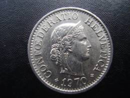 SWITZERLAND 1970  TEN RAPPEN Copper-nickel USED COIN In VERY GOOD CONDITION. - Suiza