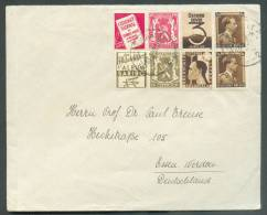 PU75-76-96-97 Obl. Sc BERCHEM (ANTWERPEN) Sur Lettre Du 13-1-1938 Vers Essen (DE).  - 8667 - Advertising