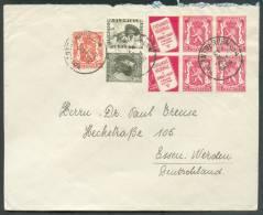 PU73-76(2)+ Tp 423(2) Attenant + Tp 419  Obl. Sc ANTWERPEN 6 Sur Lettre Du 21-II-1938 Vers Essen (DE).  - 8668 - Advertising