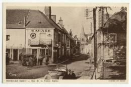 ECUEILLE  - Rue De La Vieille Eglise. Garage Et Pompe à Essence - Otros Municipios