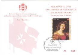 SMOM 2010 PARTECIPAZIONE UFFICIALE MILANOFIL  2011 - Malta (Orden Von)