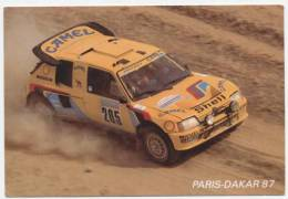 AUTOMOBILE /   DAKAR  1987   205 TURBO 16  /  VATANEN  / GIROUX  CPM  / CPSM   10X15 - Rally's