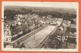 V062, Neuville-aux-Bois, La Place à Vol D'oiseau, 2908, Circulée Sous Enveloppe - Other Municipalities