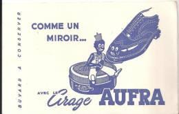 Buvard Comme Un Miroir Avec Le Cirage AUFRA - Chaussures
