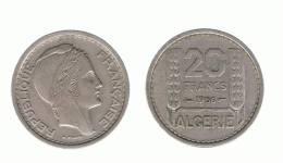 ALGERIA - ARGELIA -  20 Francs  1956  KM91 - Argelia