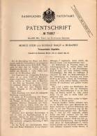 Original Patentschrift -  M. Stein Und K. Mally In Budapest , 1894 , Ziegelofen , Ziegelei , Ziegel , Ziegelstein !!! - Architecture