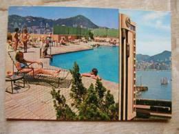 China -HONG KONG   Sheraton  Hong Kong Hotel  - Rooftop Pool  1977  D101221 - Cina (Hong Kong)