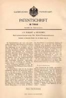 Original Patentschrift - J.R. Frikart In München ,1894, Steuerung Für Schiffsmaschinen , Schiff , Schiffe , Schiffsmotor - Boats