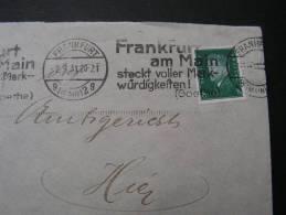 == DR Frankfurt Strempel , Goethe !! 1931 - Deutschland