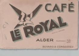 Buvard Café LE ROYAL Alger - PORT GRATUIT France Et Minoré Autres Pays - Coffee & Tea