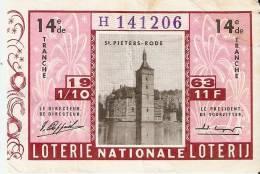 Loterie Nationale Saint Pieters Rode 1963 - Cartes Postales