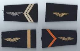 Epaulettes D´uniforme/Quatre épaulettes Anciennes Différentes/Aviation/france/ Vers 1960    D270 - Armée De L'air