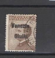 "VENEZIA GIULIA 1918-19 SOPRASTAMPATI ""VENEZIA GIULIA""  40 C. USATA - Venezia Giulia"