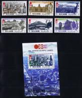 1972 Jeux Olympiques De Sapporo Vues De Sapporo Michel 600-5 Bloc 109A * - Ras Al-Khaimah