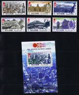 1972 Jeux Olympiques De Sapporo Vues De Sapporo Michel 600-5 Bloc 109A * - Ra's Al-Chaima