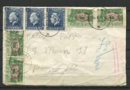 Greece 1940 Cover To Peoria Overprint - Greece
