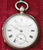 Montre Anglaise à Coq Pour Homme à Réparer - Boîtier Argent -  - Diamètre 5.40 Cm. - Signée T. FATTOBINI - Relojes De Bolsillo